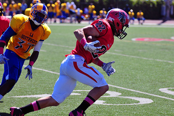 Receiver Elijah King is one of SBCC's key returners.