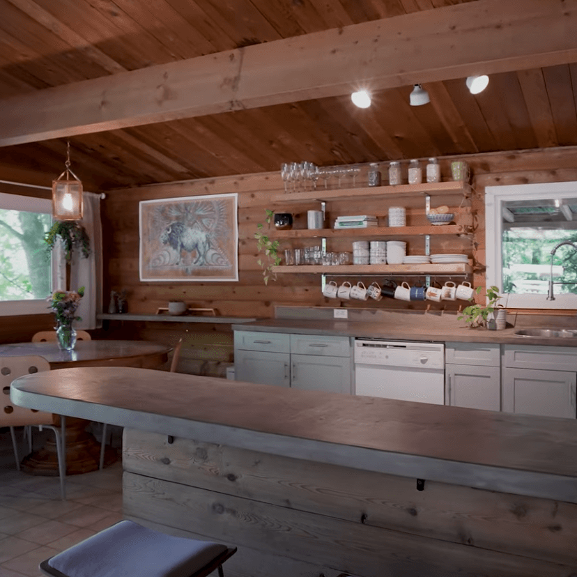 Wooden kitchen in a residential home