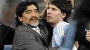 Maradona y Messi juntos