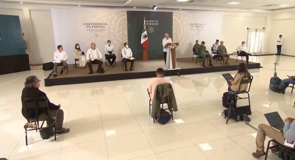 Desde Quintana Roo conferencia matutina de AMLO