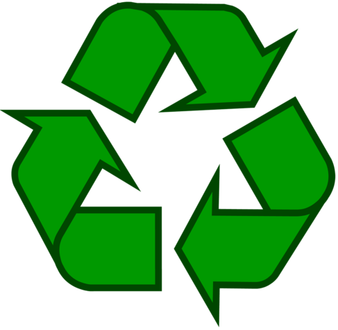 A green recycling icon