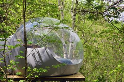 bulle canopée lit