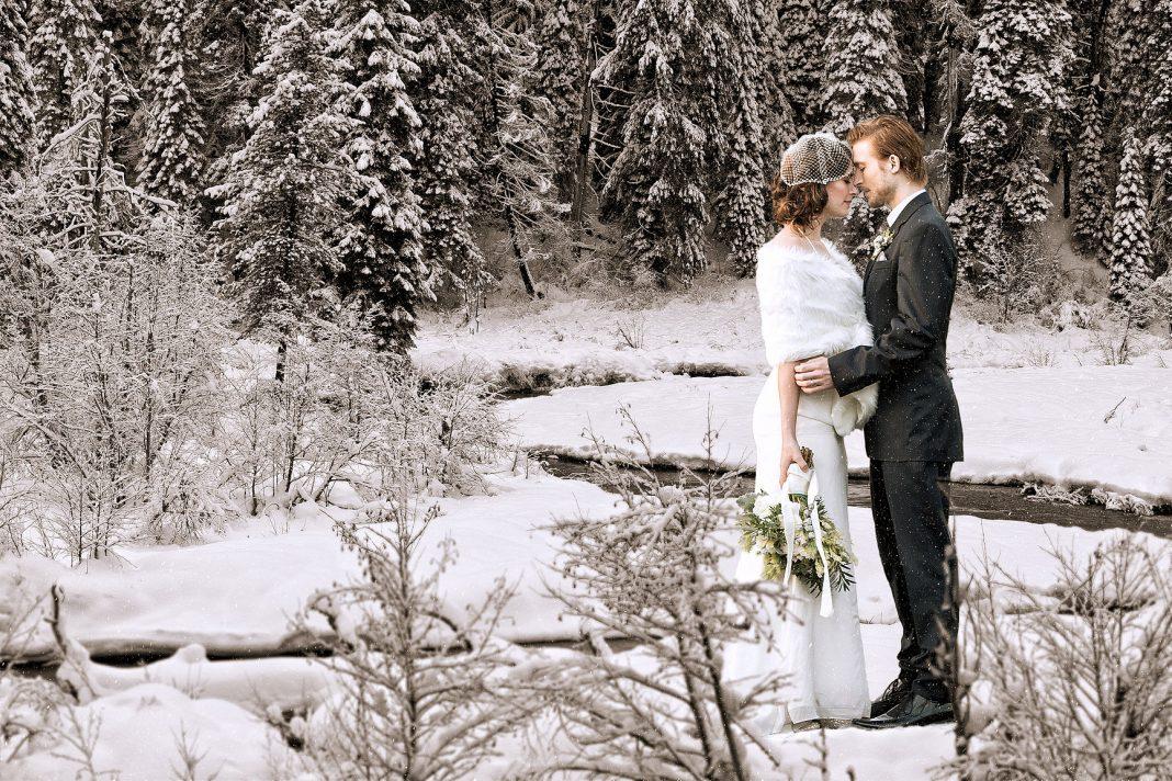 robe-mariage-hiver-une