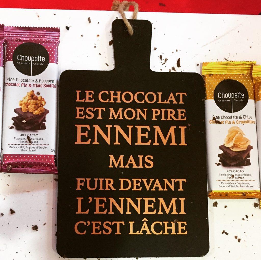 Le chocolat est mon pire ennemi