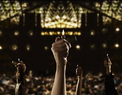 Holding Lighter-concert