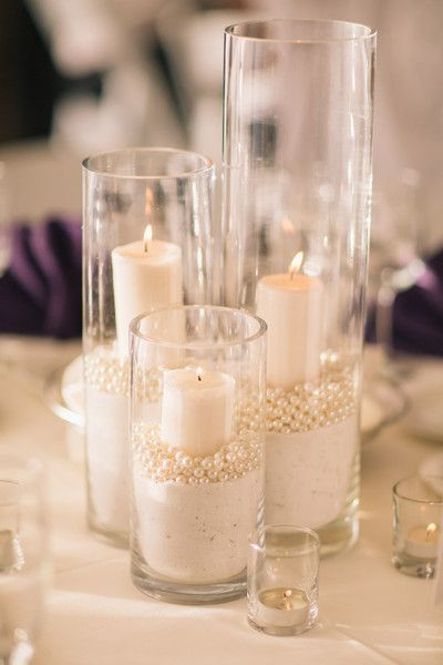 Diner en blanc - centre de table bougies