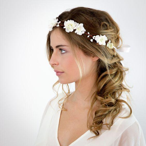 Diner en blanc - couronne fleurs blanches