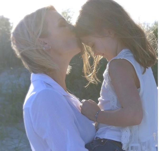 Caroline Néron et sa fille