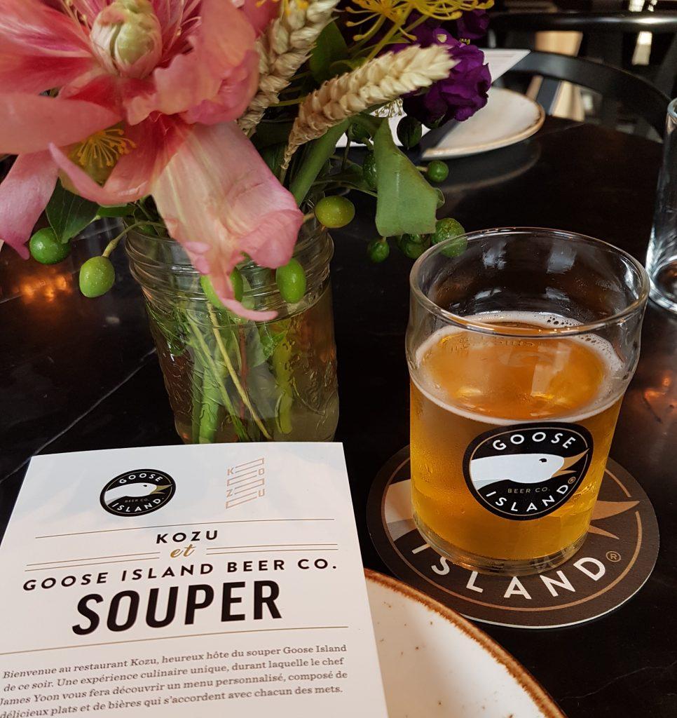 Kozu, Goose Island, menu