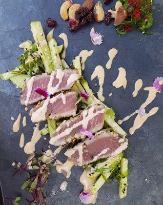lunch Estrimont, tataki de thon