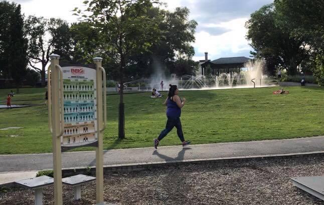 entraînement gratuit au parc, course