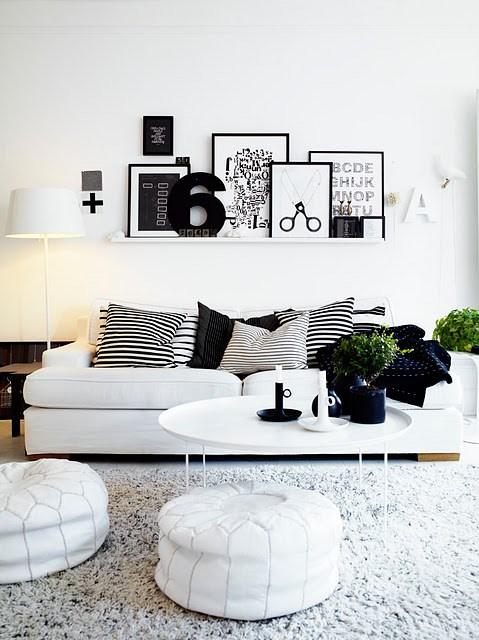 Déco scandinave, noir et blanc