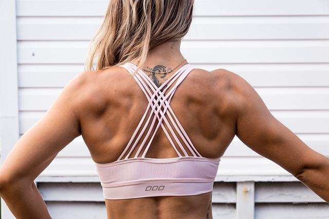 motivation gym, femme dos