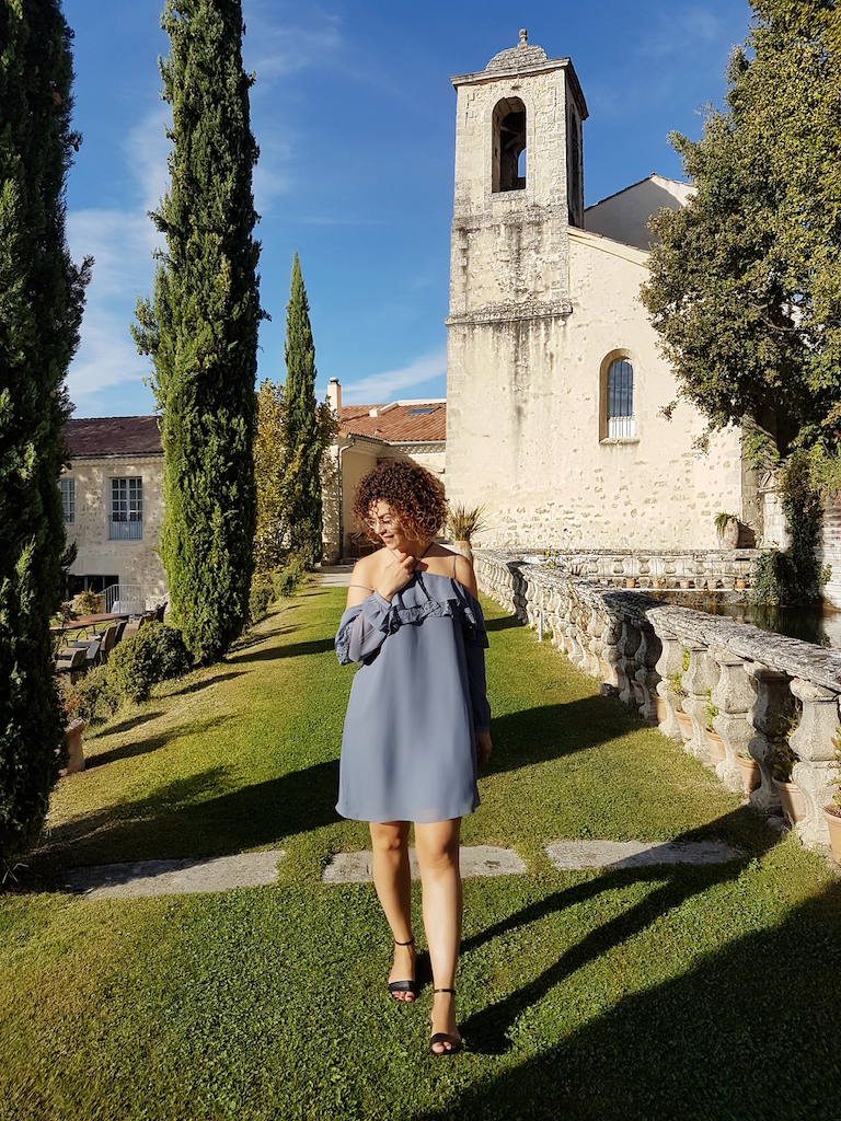 look Provence-robe bleue poudre