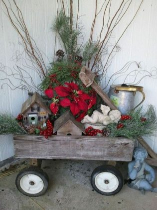 Déco extérieure DIY pour Noël