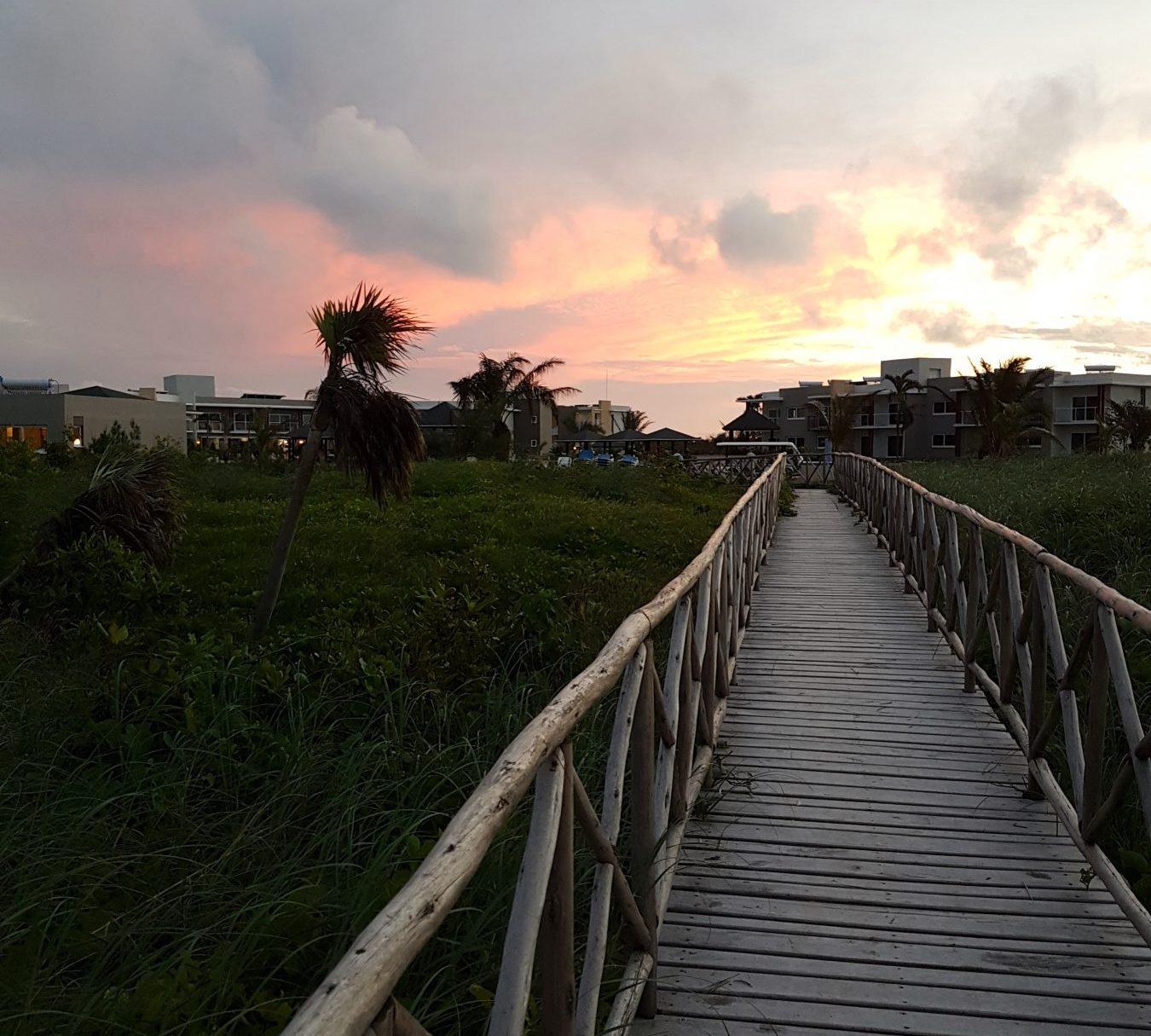 Cuba après Irma, coucher de soleil