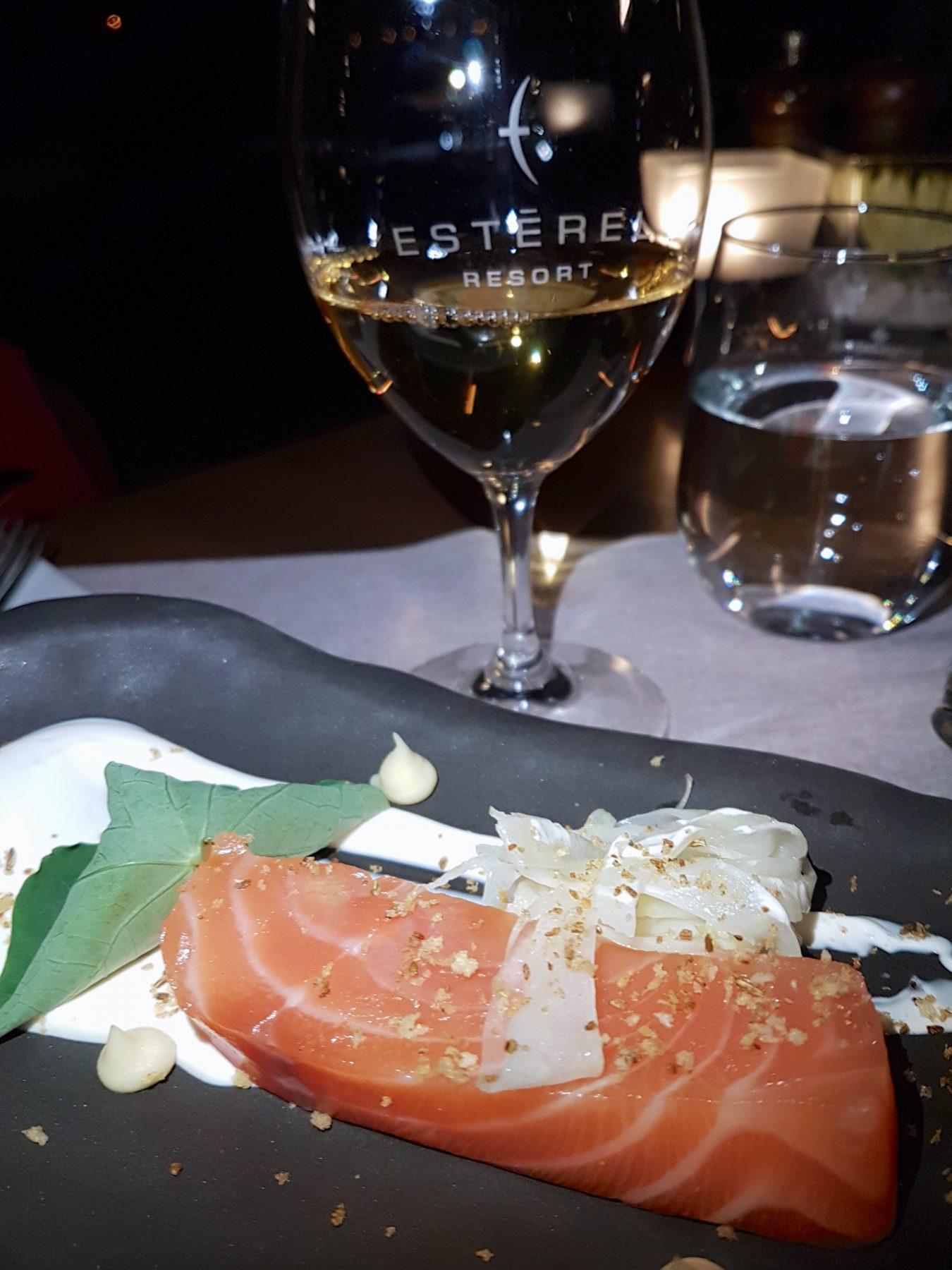 Estérel, saumon au Bistro à Champlain