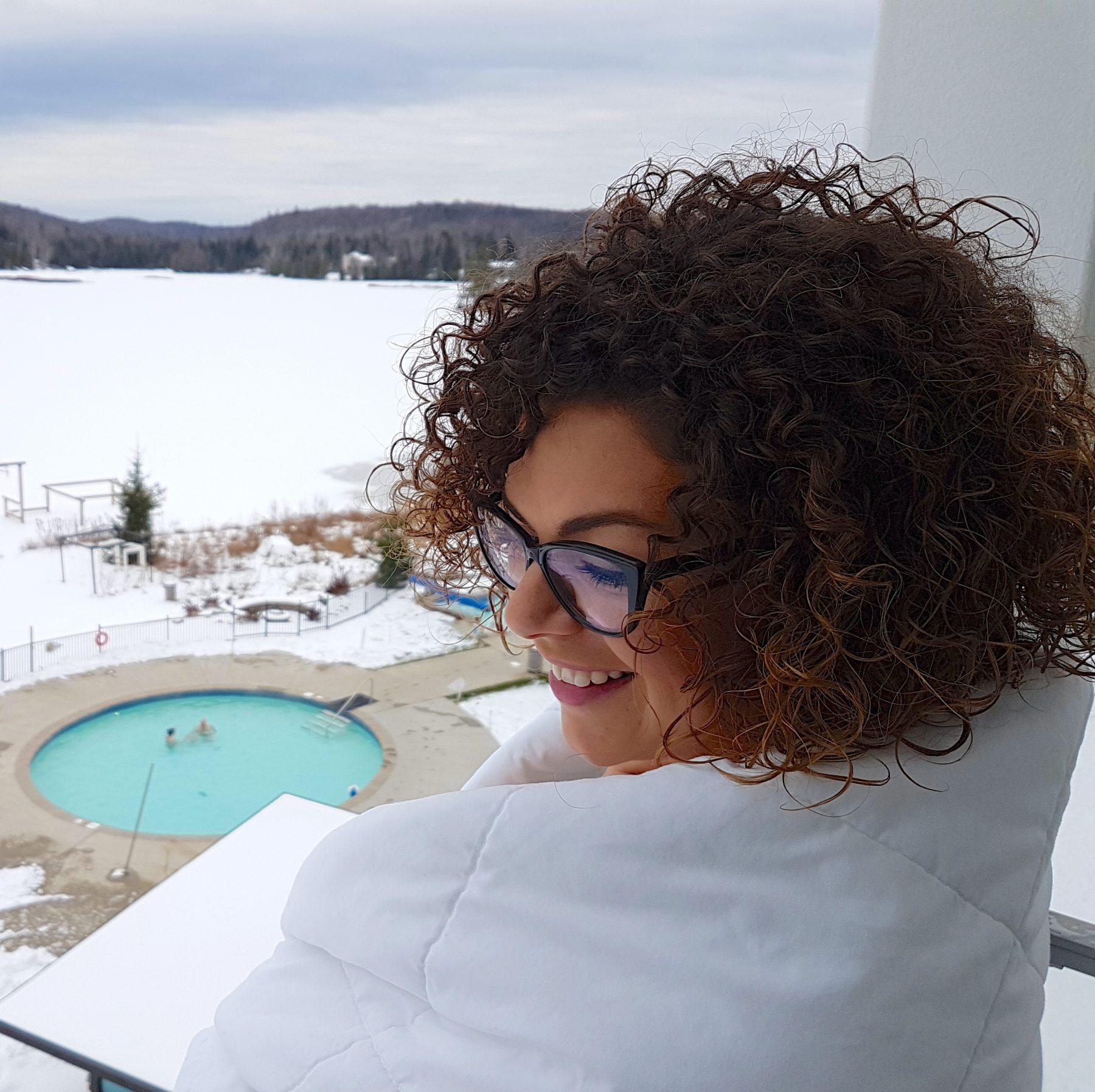Estérel, spa vue du balcon