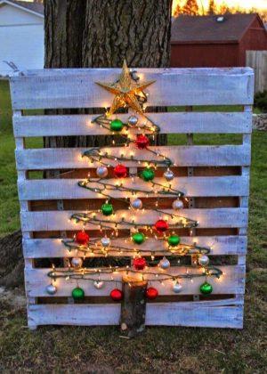 Deco DIY extérieur pour Noël