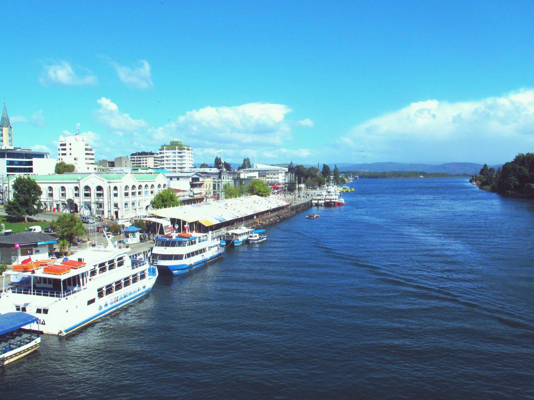 Le port de Valdivia au Chili