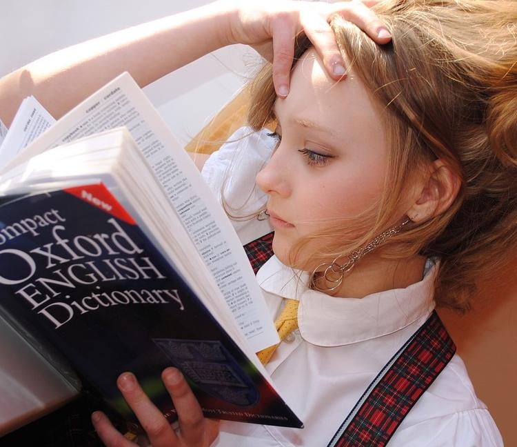fille, etude, apprentissage.