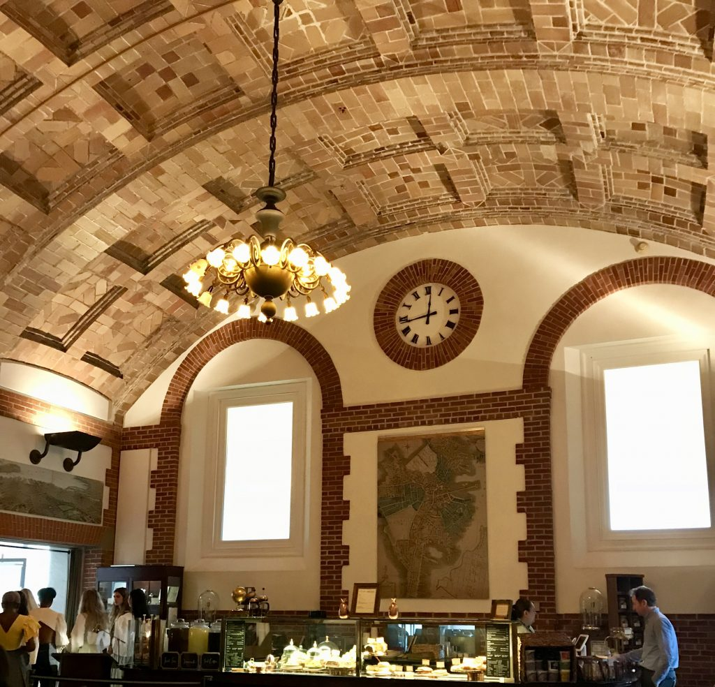 Boston public library cafe