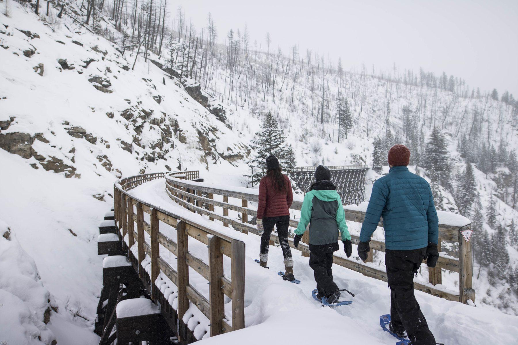 British Columbia, Kelowna - Snowshoe the Myra Canyon Trestles - ©tourismkelowna.com