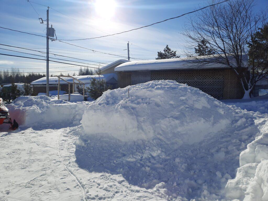 Bute de neige pour un qinzhee