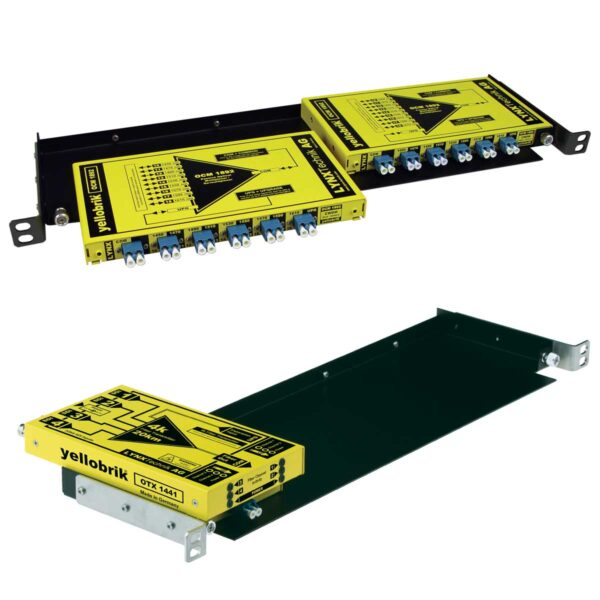 RFR 1018 yellobrik rack tray with modules installed