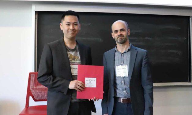 2019 Prix de l'ACSP dans le cadre de la compétition « Ma thèse en trois minutes à l'intention des étudiants diplômés »