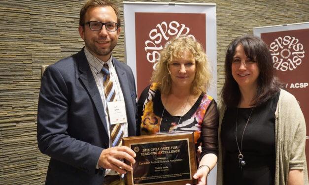 2016 Prix d'excellence en enseignement de l'ACSP