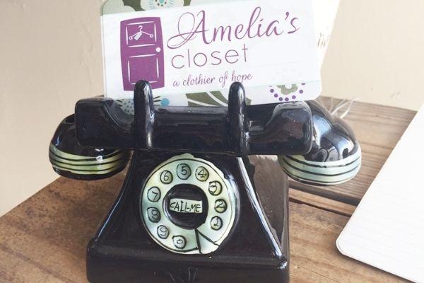 Amelias Closet Email connection box image