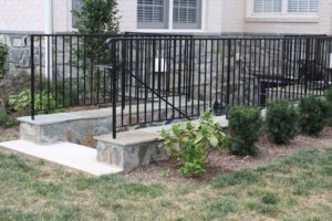 wrought iron egress walkout guardrail