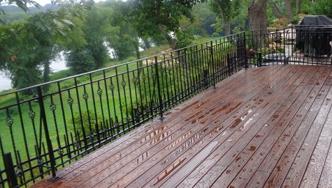 Deck wrought iron railing