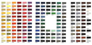 Tiger Powder Coat Color Chart