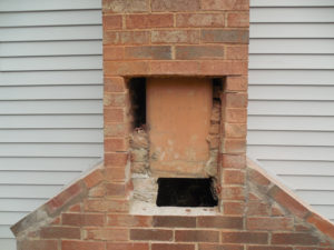 removing brick to install a stainless steal chimney liner