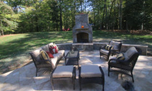 walnut travertine patio northern VA