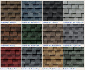 GAF roofing shingles colors and styles