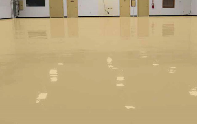 Solid Color Garage Epoxy Flooring Options