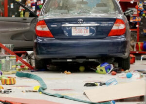 Commercial Repair Of Car Crashing Into Store Front