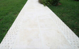 mclean walkway contractor design travertine