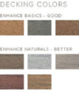 rex enhance decking color chart