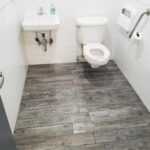 Accessible Public Bathroom with Grab Bars