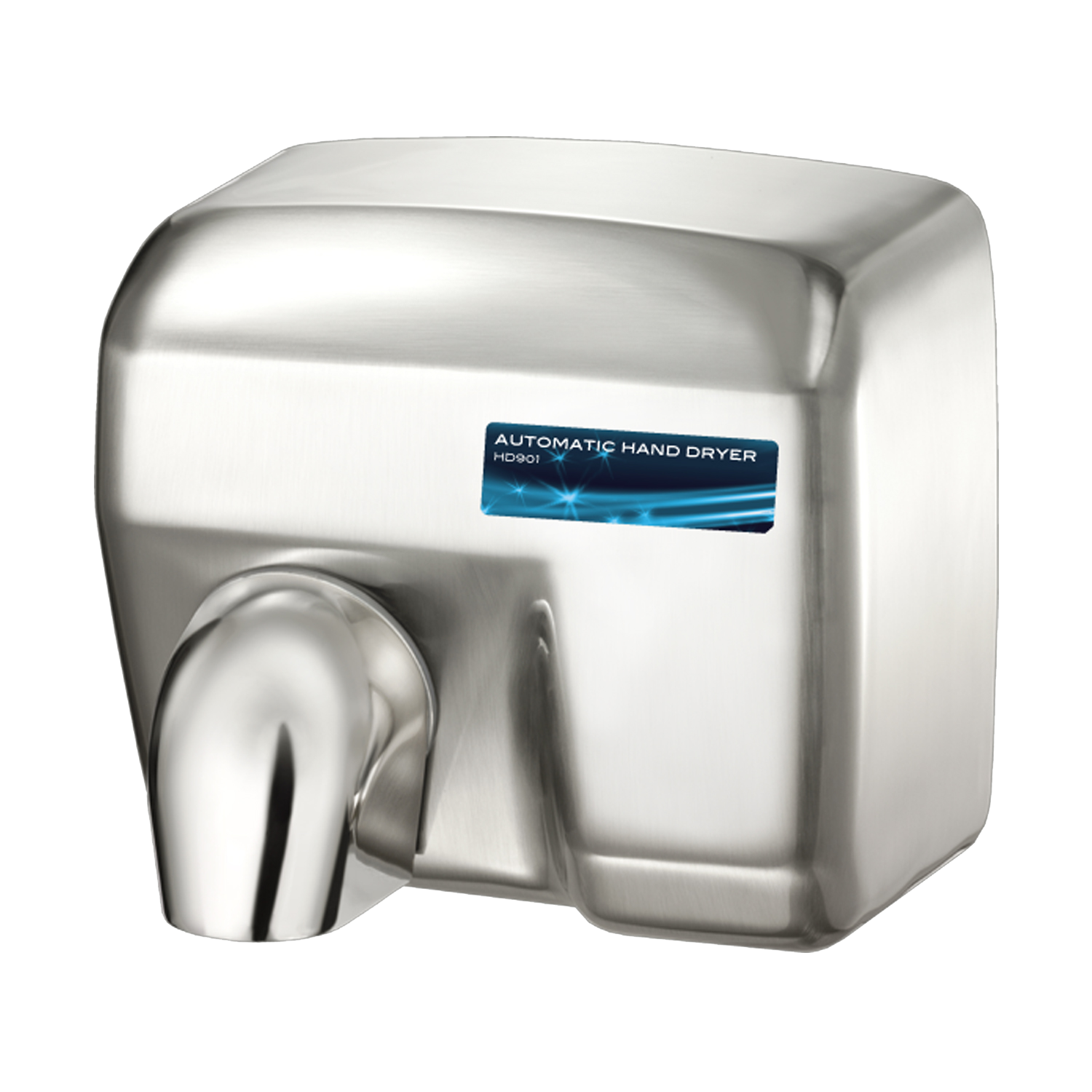 HD0901 Conventional Series Hand Dryer Brushed Chrome