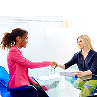 Multi-racial Interview Image