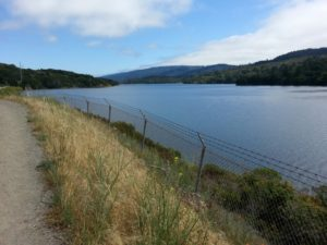 San Mateo County - Crystal Springs path by water