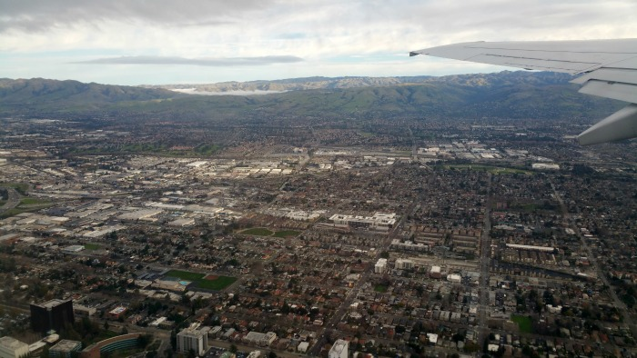 Aerial vew over San Jose looking east - photo by Mary Pope-Handy