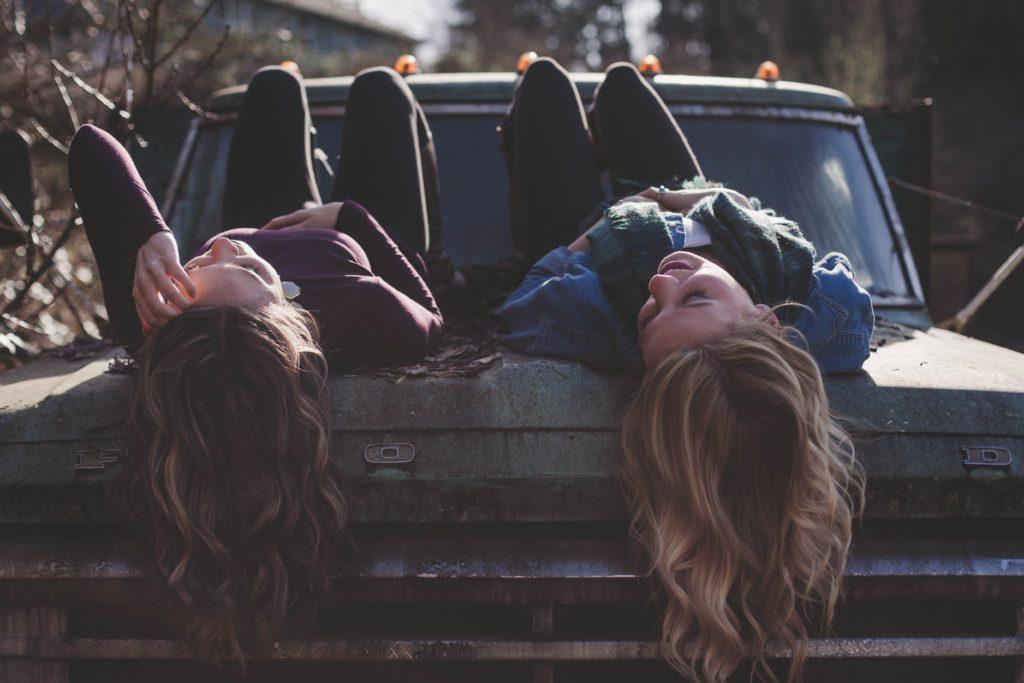 Girls on Car