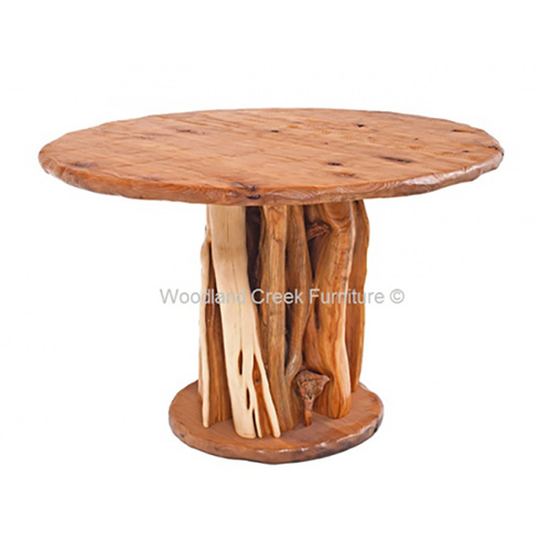 Round Log Dining Table DT00614