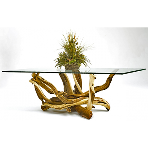 Juniper Table with Glass Top DT00575